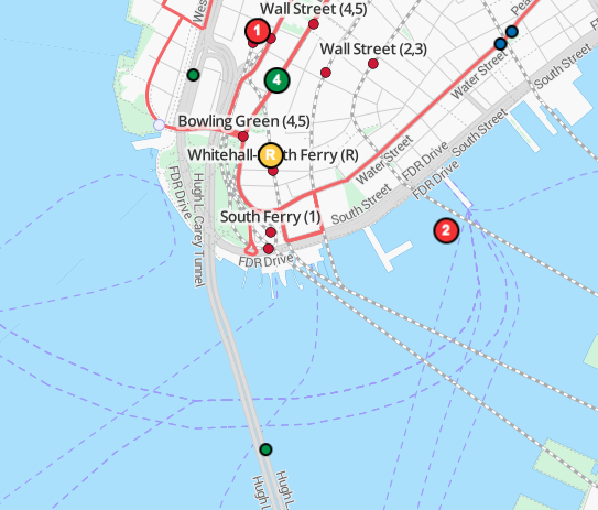 travic mapa NY seguimiento transporte público