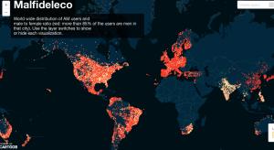 Mapa del hackeo Ashley Madison