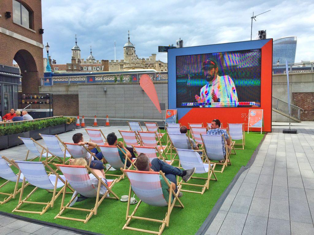 pantalla gigante Londres verano deportes