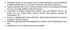 Objetivos de la SEW Startup Europe Week