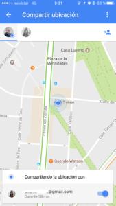 compartir ubicación google maps